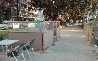 Parabanes separadores para bares y restaurantes